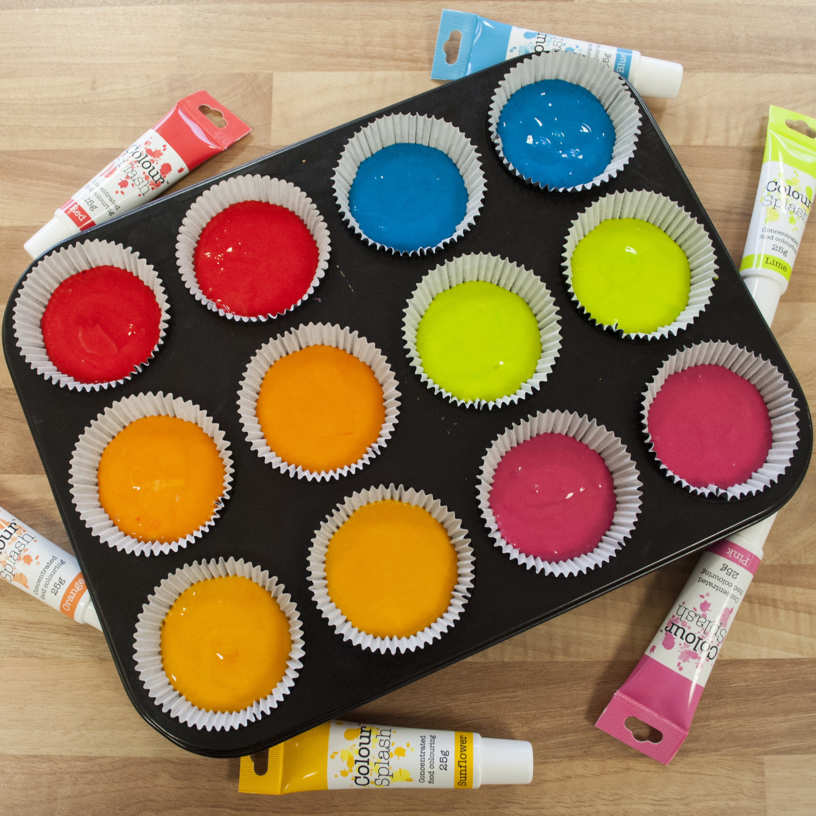 Colour Splash Food Colouring Gels -25g – Uganda Trimmings Ltd