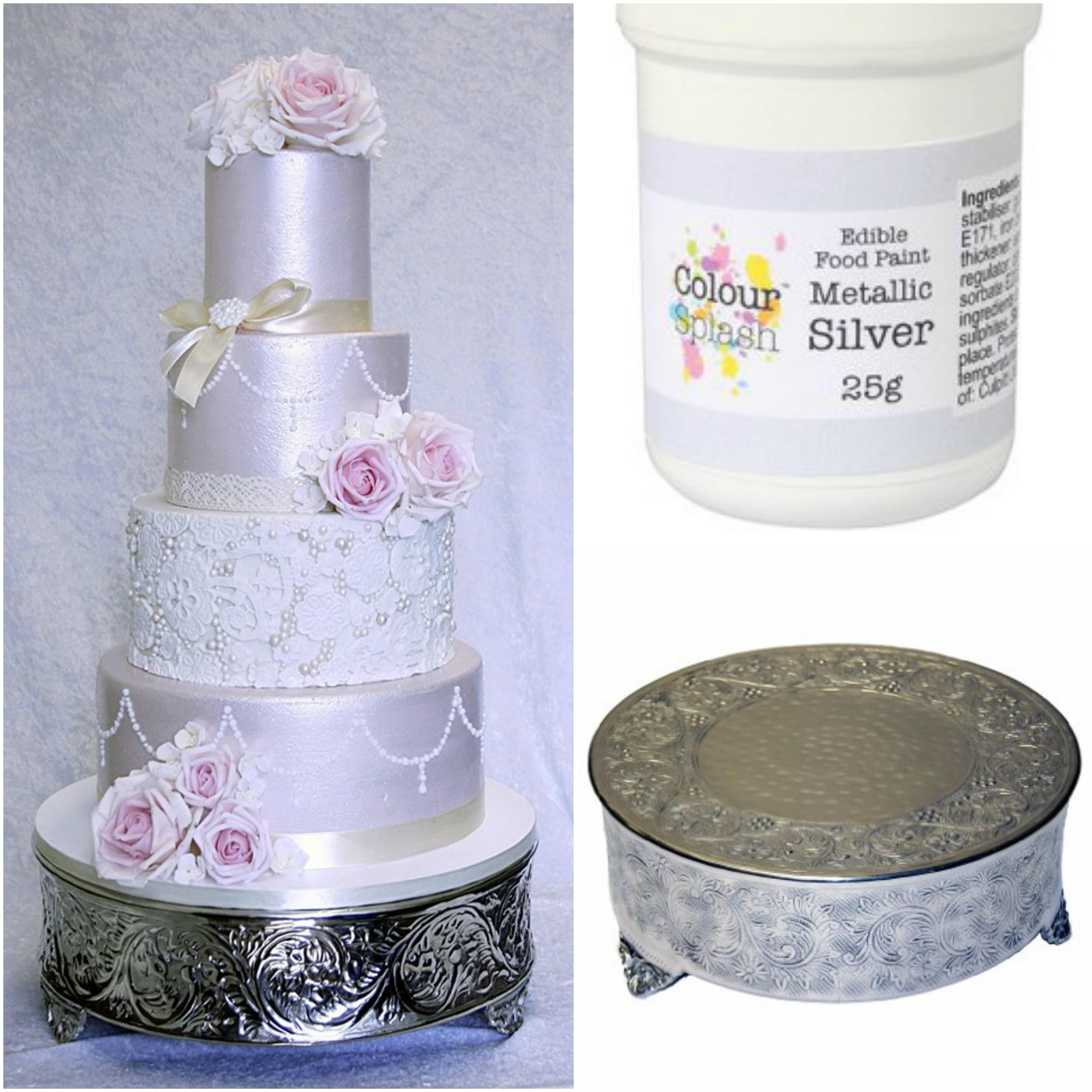Colour Splash Edible Paint Metallic Silver 25g Uganda Trimmings Ltd
