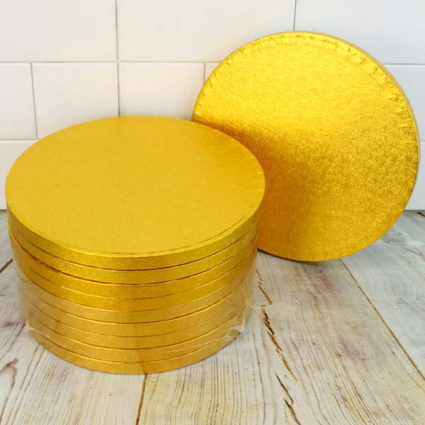 GOLD ROUND CAKE BOARDS