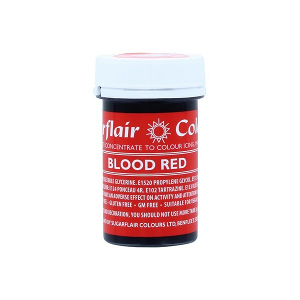 Sugarflair Paste Colours - Blood Red - 25g1